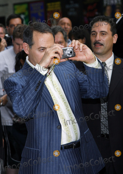David Letterman, Paul Reubens, Pee-wee Herman, Paul Reubens- Photo - Paul Reubens aka Pee Wee Herman taking pictures of the press line outside The Late Show With David Letterman on July 11, 2006 in New York City.