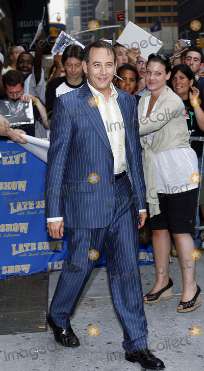 David Letterman, Paul Reubens, Pee-wee Herman, Paul Reubens- Photo - Paul Reubens aka Pee Wee Herman stops by The Late Show With David Letterman on July 11, 2006 in New York City.