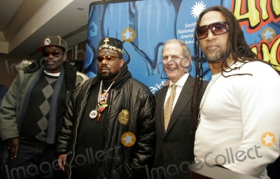 Afrika Bambaataa, Kool Herk Photo - (L_R) Five 5 Freddy, Afrika Bambaataa, Brent D. Glass (NM of AH director) and Kool Herk pose for pictures after the Smithsonian's Museum of American History's press conference launching their first ever hip-hop national collecting initiative on February 28, 2006 in New York City.