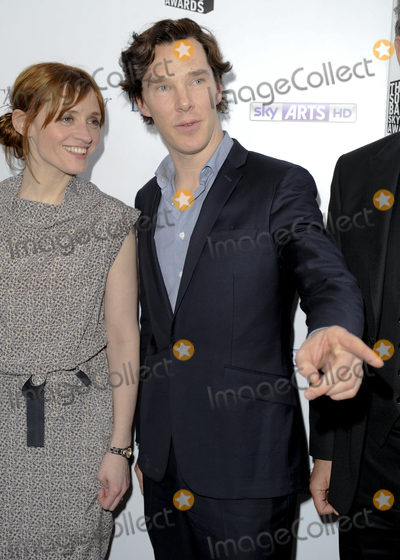 Benedict Cumberbatch, Anne Marie, Anne Marie Duff, Anne-Marie Duff, Ann Marie, Gary Mitchell Photo - London, UK. Anne-Marie Duff and Benedict Cumberbatch at The South Bank Sky Arts Awards 2013, held at the Dorchester Hotel, Park Lane. 12th March 2013.Gary Mitchell /Landmark Media
