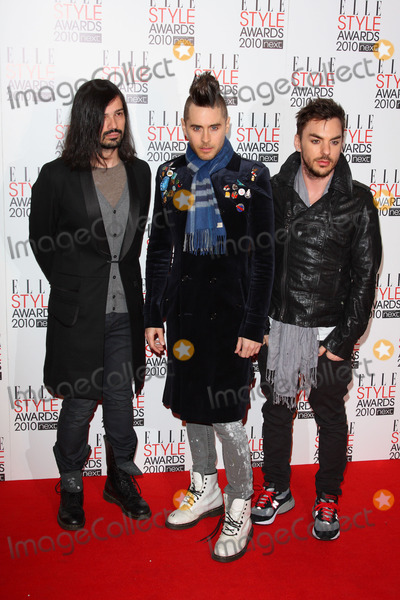 Jared Leto, Queen, Shannon Leto, Tomo Milicevic, 30 Seconds to Mars Photo - London, UK. Tomo Milicevic, Jared Leto and Shannon Leto of 30 Seconds To Mars at the Elle Style Awards 2010 held at the Grand Connaught Rooms in Great Queen Street. 22nd February 2010. Keith Mayhew/Landmark Media .