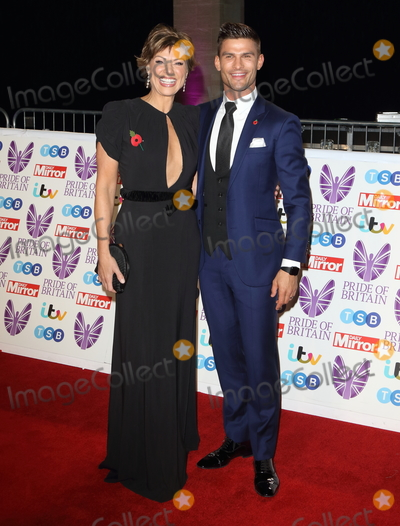 Kate Silverton, Georgia Toffolo, Aljaz Skorjanec Photo - London, UK. Kate Silverton and Aljaz Skorjanec at Pride of Britain Awards 2018 at the Grosvenor House, Park Lane, London on Monday 29 October 2018.