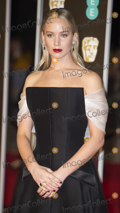 Jennifer Lawrence, Albert Hall, Gary Mitchell Photo - London, UK.  Jennifer Lawrence  at  the EE British Academy Film Awards (BAFTA) held at Royal Albert Hall on February 18, 2018 in London 18th February 2018.