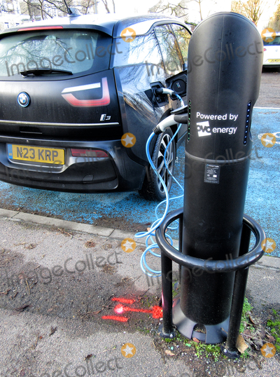 Photo - Bedford. UK.   Electric Vehicle charging point