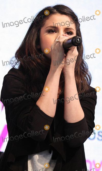 Selena Gomez, Gomez Photo - London, UK. Selena Gomez performs at HMV, Oxford Street, London. 12th April 2010.Keith Mayhew/Landmark Media .