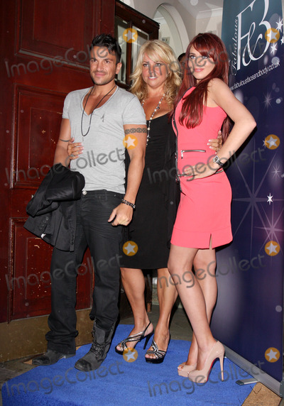 Amy Childs, Peter Andre Photo - London, UK. Peter Andre with Claire Powell and Amy Childs at Launch Party for 'Fabulous Face and Body' at One Harley Street, London. May 17th 2011.