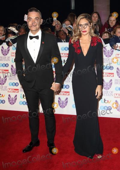 Ayda Field, Ayda Fields, Robbie Williams Photo - London, UK. Robbie Williams and Ayda Field at Pride of Britain Awards 2018 at the Grosvenor House, Park Lane, London on Monday 29 October 2018Ref: LMK73-J2870-301018Keith Mayhew /Landmark Media. WWW.LMKMEDIA.COM.