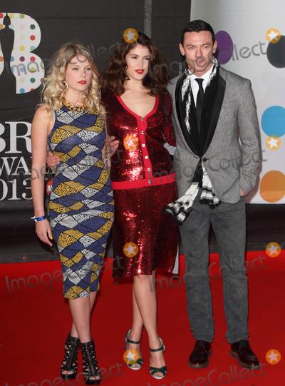 Gemma Arterton, Luke Evans, Hannah Arterton Photo - London, UK. Hannah Arterton, Gemma Arterton and Luke Evans  at    the 2013 Brit Awards held at the O2 Arena in North Greenwich.21 February 2012.Keith Mayhew/Landmark Media.