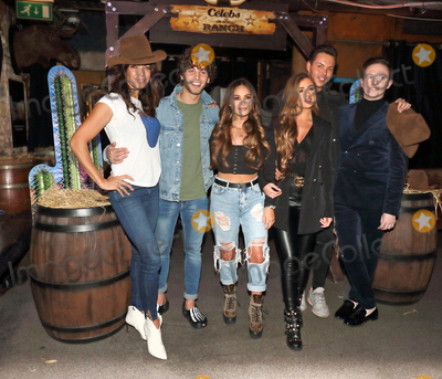 Booker, Courtney Green, Jenny Powell, Bobby Norris, Eyal Booker, Georgia Steel Photo - London, UK. Georgia Steel, Eyal Booker, Bobby Norris, Stephen Bailey, Courtney Green, Jenny Powell at Celebs On The Ranch Launch at Jerusalem Bar and Kitchen, Rathbone Place, London on April 1st 2019.
