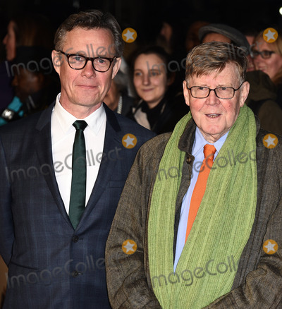 Alan Bennett, Alex Jenning, Alex Jennings Photo - London, UK. Alex Jennings and Alan Bennett   at London Film Festival Premiere of The Lady In The Van at Odeon, Leicester Square, London on Tuesday 13 October 2015.