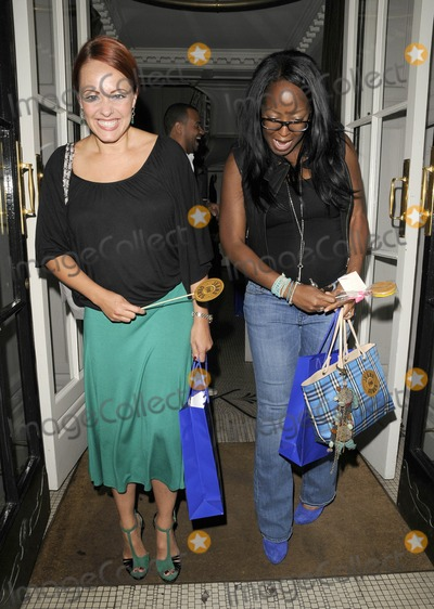 Angelica Bell, Sarah Cawood Photo - London, UK. Sarah Cawood and Angelica Bell at the Jeans For Genes Launch Party held at Kettners. 5th September 2011.