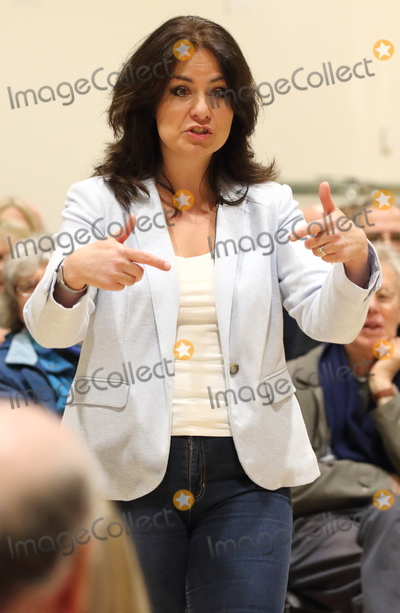 Heidi Allen Photo - Cambourne. Cambridgeshire.  Heidi Allen MP addresses a Public Meeting in her constituency of South Cambridgeshire, at Cambourne Village College today.The former Conservative MP, who left the party to join the new Independent Group was named as the interim leader on 29th March. The group is to register as a full political party - to be called 'Change UK  The Independent Group' and contest the upcoming European Parliament elections. Cambourne, Cambridgeshire, UK on Saturday March 30th 2019. Ref:LMK73-S2310-300319 Keith Mayhew/Landmark Media WWW.LMKMEDIA.COM.