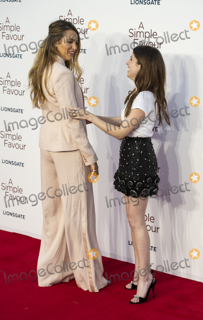 Anna Kendrick, Blake Lively, Gary Mitchell, Anna Maria Perez de Taglé Photo - London, UK. Blake Lively and Anna Kendrick at the UK Premiere of 'A Simple Favor' at the BFI Southbank on the 17th September 2018 in London, England UK  Ref: LMK386-J2620-180918Gary Mitchell/Landmark MediaWWW.LMKMEDIA.COM