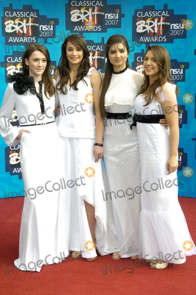 All Angels, Laura Wright, Albert Hall, Charlotte Ritchie Photo - London. UK. All Angels(Melanie Nakhla, Charlotte Ritchie, Laura Wright, and Daisy Chute) at the Classical BRIT Awards at the Royal Albert Hall. 3rd May 2007. Can Nguyen/Landmark Media