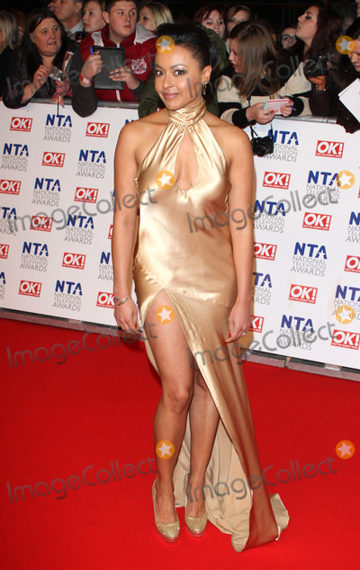 Jaye Jacobs, The National Photo - London. UK. Jaye Jacobs  at the red carpet arrivals for the National Television Awards, the O2 Arena, London. 25th January 2012.Keith Mayhew/Landmark Media