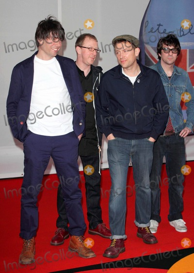 Blur Photo - London, UK. Blur at the Brit Awards 2012 Red Carpet Arrivals at the O2 Arena. 21st February 2012.