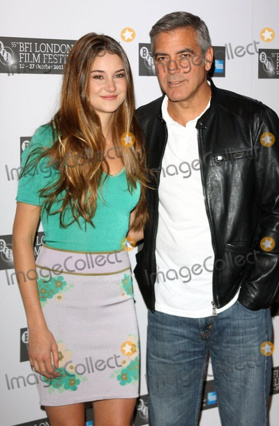 George Clooney, Shailene Woodley, Leicester Square Photo - London, UK. Shailene Woodley and George Clooney at the London Film Festival Photocall for 'The Descendants' at the Odeon West End, Leicester Square. 20th October 2011.Keith Mayhew/Landmark Media