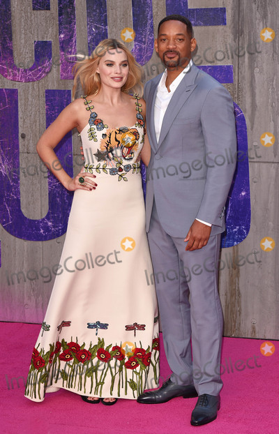 Will Smith, Margot Robbie Photo - London, UK. Margot Robbie and Will Smith  at the European Premiere of 'Suicide Squad' at the Odeon Leicester Square, London on August 3rd 2016
