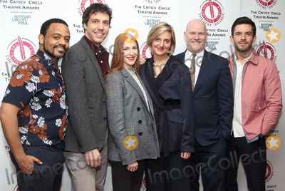 Prince, Prince of Wales, The Prince of Wales, Wale, Jonathan Bailey, Alex Gaumond, Rosalie Craig, Ashley Campbell, Marianne Elliott Photo - London, UK. Ashley Campbell, Alex Gaumond, Rosalie Craig, Marianne Elliott, Christopher Harper and Jonathan Bailey at The Critics' Circle Theatre Awards at the Prince of Wales Theatre, Coventry Street, London on 29th January 2019.