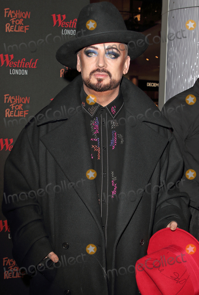 Boy George, Naomi Campbell Photo - London, UK. Boy George at Naomi Campbell Fashion For Relief Pop-Up, Westfield London on November 26th 2019