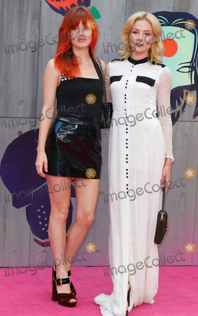 Georgia May Jagger, Clara Paget Photo - London, UK. Georgia May Jagger and Clara Paget at the European Premiere of 'Suicide Squad' at the Odeon Leicester Square, London on August 3rd 2016Ref: LMK73-60940-040816Keith Mayhew/Landmark MediaWWW.LMKMEDIA.COM