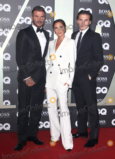 Brooklyn Beckham, David Beckham, Victoria Beckham Photo - London, UK. David Beckham, Victoria Beckham and Brooklyn Beckham  at GQ Men of the Year Awards held at the Tate Modern, Bankside, London on September 3rd 2019.