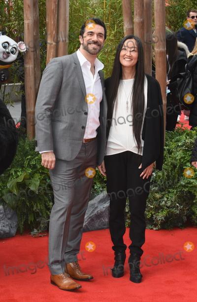 Alessandro Carloni, Leicester Square Photo - London, UK. Alessandro Carloni and Jennifer Nelson at the Kung Fu Panda3,European Premiere,Odeon Leicester Square. 6th  March 2016. Ref: LMK326-60293-060316Matt Lewis/Landmark Media. WWW.LMKMEDIA.COM