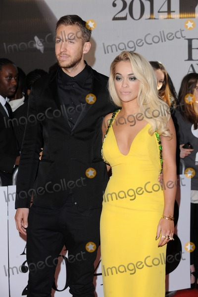 Rita Ora, Calvin Harris, Rita  Ora Photo - London. UK.  Calvin Harris and Rita Ora  at the 