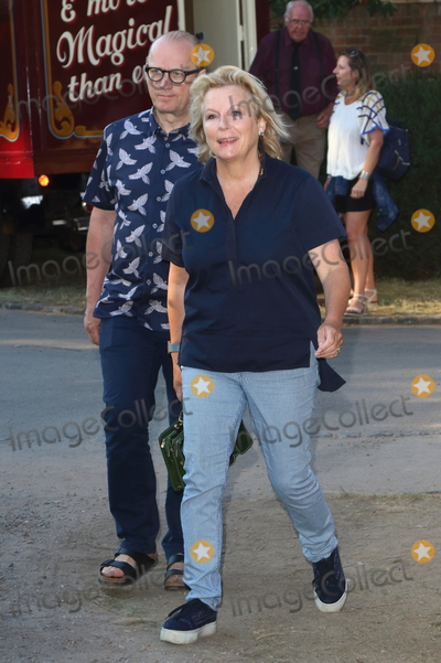Jennifer Saunders Photo - London.UK.  Jennifer Saunders and Ade Edmondson   at the Giffords Circus Press Night at the Chiswick House and Gardens, Chiswick, London.  28th June 2018