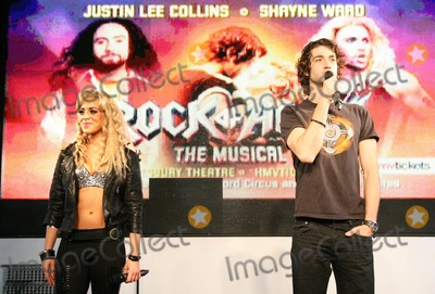 Amy Pemberton Photo - London. UK. Oliver Tompsett and Amy Pemberton from Rock of Ages performing selection of songs at HMV, Oxford Street on September 16, 2011. Justyna Sanko/Landmark Media