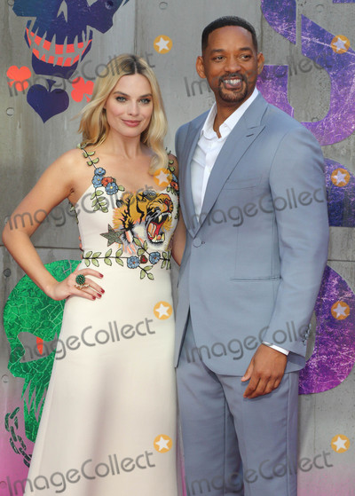 Will Smith, Margot Robbie Photo - London, UK. Will Smith and Margot Robbie at the European Premiere of 'Suicide Squad' at the Odeon Leicester Square, London on August 3rd 2016