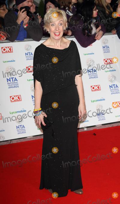 Julie Hesmondhaigh, The National Photo - London. UK. Julie Hesmondhaigh   at the Red Carpet arrivals at the National Television Awards at the O2 Arena, London on 22nd January 2014. Ref::LMK73-46450-230114. Keith Mayhew/Landmark MediaWWW.LMKMEDIA.COM.