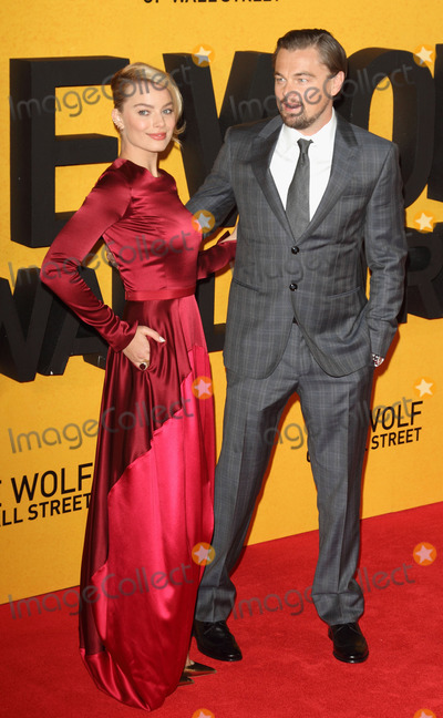 Margot Robbie, Hüsker Dü, Leicester Square Photo - London, UK. Margot Robbie and Leonardo Di Caprio at UK Premiere of 'The Wolf of Wall Street' at the Odeon, Leicester Square, London on January 9th 2014.