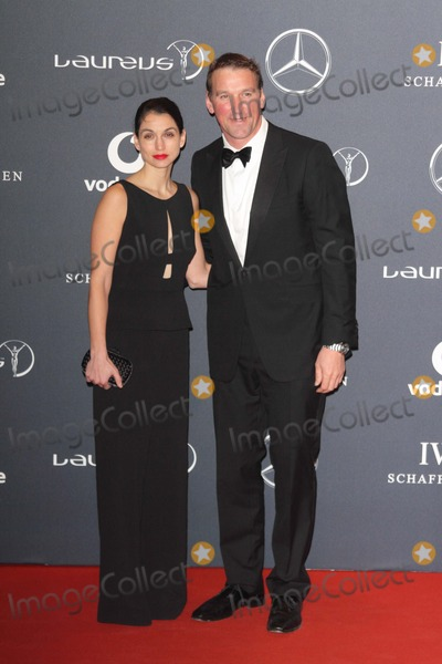 Elizabeth II, Matthew Pinsent, Queen, Queen Elizabeth, Queen Elizabeth II, Queen Elizabeth\ Photo - London. UK.  Sir Matthew Pinsent and guest   at the Laureus World Sports Awards held at the Queen Elizabeth II Centre, Westminster, London, 6th February  2012,   Keith Mayhew/Landmark Media  EXCEPT GERMANY, AUSTRIA AND SWITZERLAND