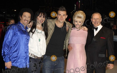 Anthony Adams, Cher, Dusty Springfield, Frank Sinatra, Robbie Williams, Tony Lewis, Lionel Ritchie Photo - London. UK.  Performing artists from the BBC TV series 'The One and Only' to find the best musical tribute act in the UK at the UK Premiere of new  film  `The Accidental Husband', in aid of The Fire Service National Benevolent Fund at the Vue West End in Central London.  L-R. Moni Tivony (Lionel Ritchie), Joanna Berns (Cher), Tony Lewis (Robbie Williams), Katy Setterfield (Dusty Springfield) and Anthony Adams (Frank Sinatra) .  13th  February 2008.  Ali Kadinsky/Landmark Media