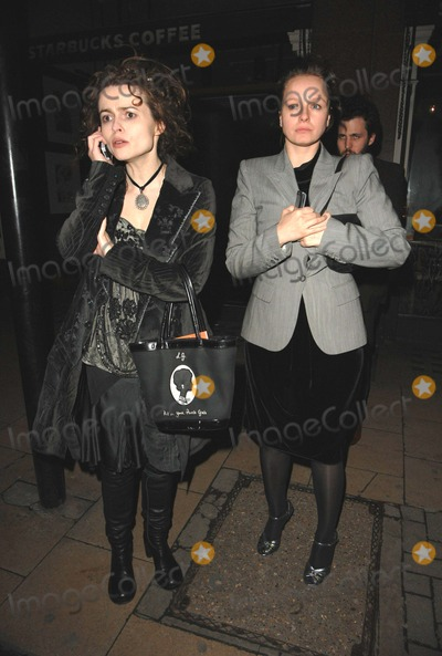 Samantha Morton, Helena Bonham, Helena Bonham Carter, Helena Bonham-Carter Photo - London.UK. Helena Bonham-Carter(L) with Samantha Morton  at the gala press night for the opening of the play 'Equus' at the Gielgud Theatre, London.  27th February 2007. Can Nguyen/Landmark Media.