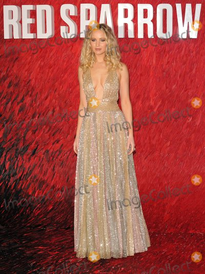 "Jennifer Lawrence Photo - London, UK. Jennifer Lawrence at the ""Red Sparrow"" European film premiere, Vue West End cinema, Leicester Square, London, England, UK, on Monday 19 February 2018.
