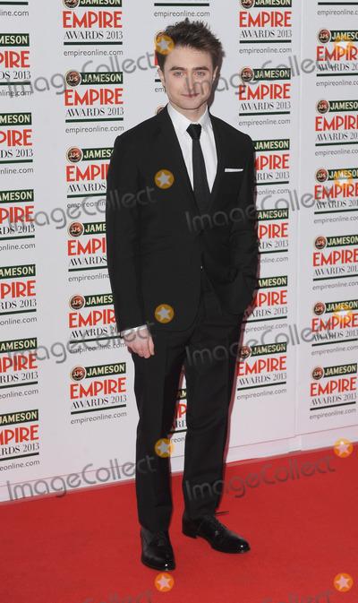 Daniel Radcliffe, Daniel Radcliff Photo - London. UK.  Daniel Radcliffe    at the Jameson Empire Film Awards. Grosvenor House. London. 24th March 2013. Landmark Media