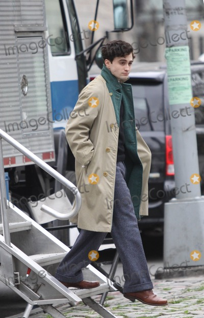 Allen Ginsberg, Daniel Radcliffe, Daniel Radcliff Photo - New York.NY.USA .  Danielle Radcliffe  on the set of Kill Your Darlings on 104Street and 5 Avenue. Radcliffe plays Allen Ginsberg  in a story set in 1944 where a murder brings together many writers and poets who would later become famous.  New York. 21st March 2012.