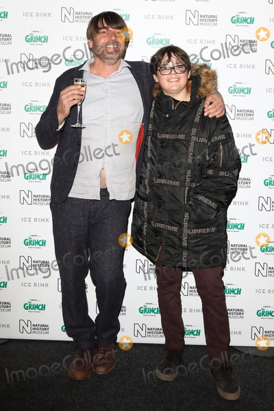 Alex James Photo - London, UK. Alex James and son Geronimo at Natural History Museum Ice Rink Launch Party at the Natural History Museum, Cromwell Road, London on Wednesday 24 October 2018
