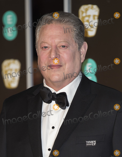 Al Gore, Albert Hall, Gary Mitchell Photo - London, UK. Al Gore  at EE British Academy Film Awards 2018 - Red Carpet Arrivals at the Royal Albert Hall, London on Sunday February 18th 2018.