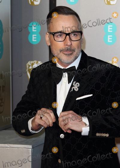 David Furnish, Albert Hall Photo - London, UK. David Furnish at EE British Academy Film Awards at the Royal Albert Hall, Kensington, London on Sunday February 10th 2019Ref: LMK73-J4345-110219Keith Mayhew/Landmark Media. WWW.LMKMEDIA.COM.