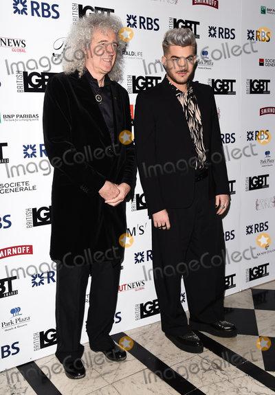 Adam Lambert, Brian May, Queen Photo - London, UK.  Brian May and Adam Lambert  at The LGBT Awards held at The Connaught Rooms, Great Queen Street, London. 13th May 2016. Ref: LMK392-60515-140516Vivienne Vincent/Landmark Media. WWW.LMKMEDIA.COM.