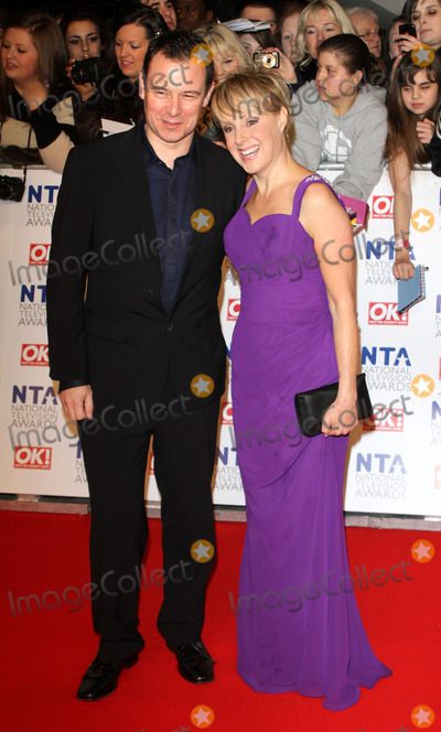 Andrew Lancel, Sally Dynevor, The National Photo - London. UK.  Andrew Lancel and Sally Dynevor    at the red carpet arrivals for the National Television Awards, the O2 Arena, London. 25th January 2012.Keith Mayhew/Landmark Media