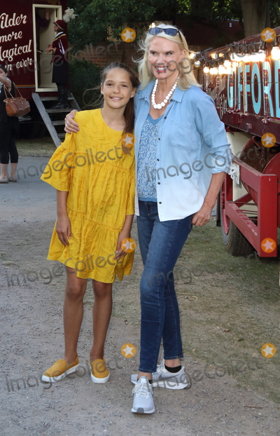 Anneka Rice Photo - London.UK.  Anneka Rice and god daughter   at the Giffords Circus Press Night at the Chiswick House and Gardens, Chiswick, London.  28th June 2018