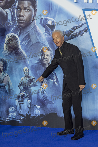 """Anthony Daniels, Gary Mitchell, Leicester Square Photo - London, UK. Anthony Daniels  at the European Premiere of """"Star Wars: The Rise of Skywalker"""" at Cineworld Leicester Square on December 18, 2019 in London, England.Ref: LMK386-J5951-201219Gary Mitchell /Landmark Media  WWW.LMKMEDIA.COM."""