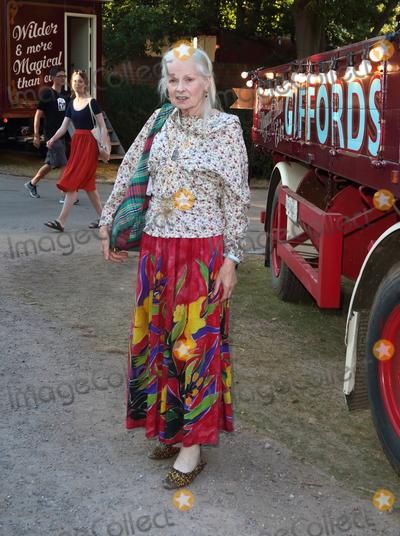 Vivienne Westwood, Dame Vivienne Westwood Photo - London.UK. Dame Vivienne Westwood   at the Giffords Circus Press Night at the Chiswick House and Gardens, Chiswick, London.  28th June 2018Ref:LMK73-S1492-290618Keith Mayhew/Landmark MediaWWW.LMKMEDIA.COM
