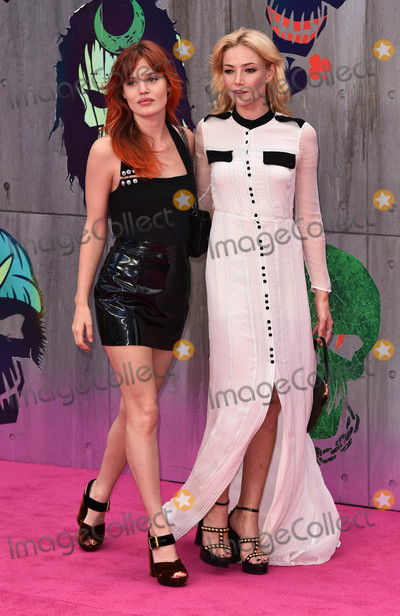 Georgia May Jagger, Clara Paget Photo - London, UK. Georgia May Jagger and Clara Paget at the European Premiere of 'Suicide Squad' at the Odeon Leicester Square, London on August 3rd 2016Ref: LMK392-60941-040816Vivienne Vincent/Landmark MediaWWW.LMKMEDIA.COM