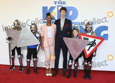 Rhianna Dorris, Angus Imrie, Leicester Square Photo - London, UK. Rhianna Dorris and Angus Imrie at The Kid Who Would Be King Gala screening at the Odeon Luxe Leicester Square, London on Sunday 3rd February 2019