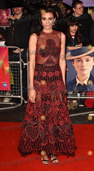 Aiysha Hart, Leicester Square Photo - London, UK. Aiysha Hart at LFF 2018 : Colette - BFI Patrons Gala held at Cineworld, Leicester Square, London on Thursday 11 october 2018Ref: LMK392 -J2745-121018Vivienne Vincent/Landmark Media. WWW.LMKMEDIA.COM.